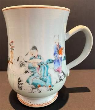 Large Chinese mug with handle, c.1750