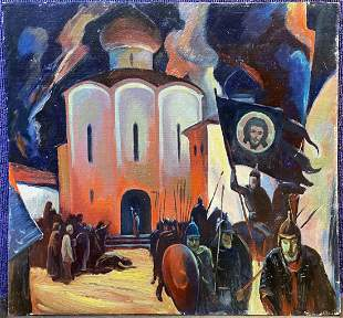 Russian painting of soldiers by S. N. Kabanov