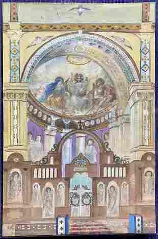 WC of Russian church apse, Mikhail Nesterov (2)