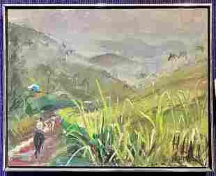 Ptg of Puerto Rican storm,William Draper, gallery label