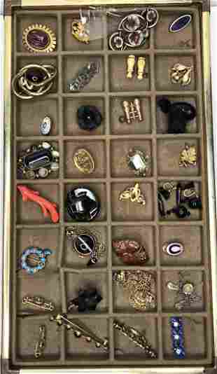 Misc group of 32 jewelry items, c1880-1920