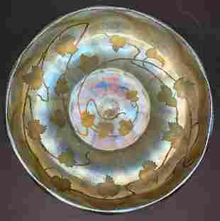 LC Tiffany Studios engraved Favrile bowl, c1910