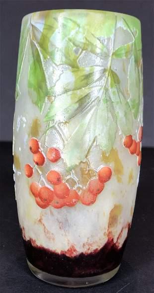 Daum Nancy cabinet vase, c1900