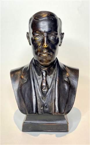 Tiffany Studios Woodrow Wilson bust, c1918