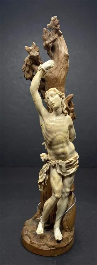 Carving of Saint Sebastian, 19thc or earlier