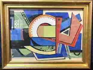 Art Deco gouache design, c.1925