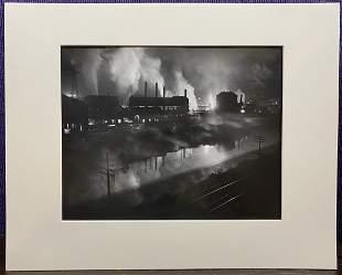 Photo by W. Eugene Smith, Ohio steel mill, c1949