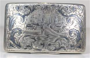 Russian silver snuff box dated 1848, 2.33ozt