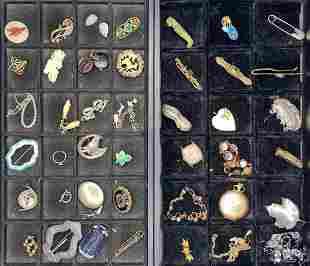 36 pieces of unique costume jewelry