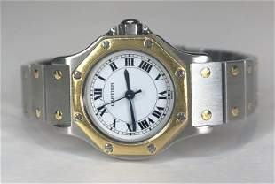 18k and stainless steel Cartier ladies watch