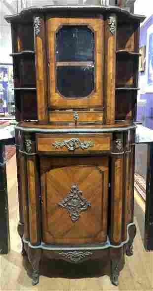 Louis XV style inlaid cabinet, c1900