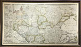 Large map of Eastern Europe (60.5in x 35.5in)