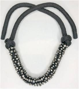 Rhinestone rope necklace by MIU MIU
