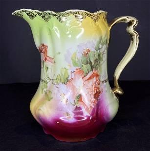 ES Germany porcelain pitcher