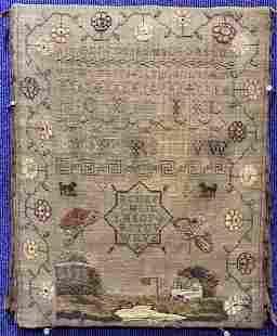 19th century sampler