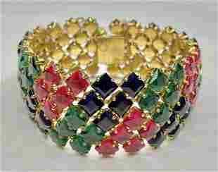 Schreiner colored rhinestone bracelet