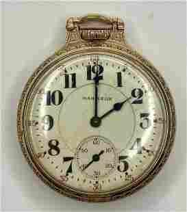 Hamilton gold filled railroad pocket watch