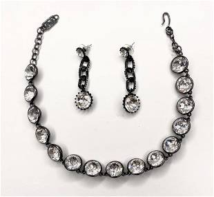 YSL necklace and Jay Strongwater earrings