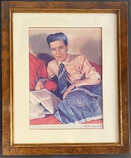Photo of Simone de Beauvoir, Gisele Freund, c1948