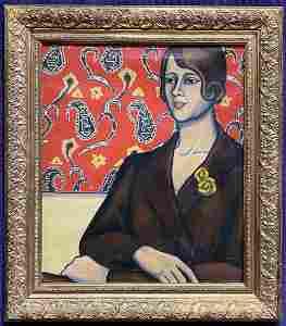 Portrait of a woman by Stella Drabkin, d1931