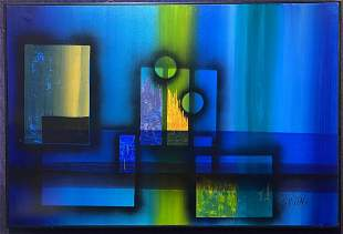 Large abstract painting by G. Virkala