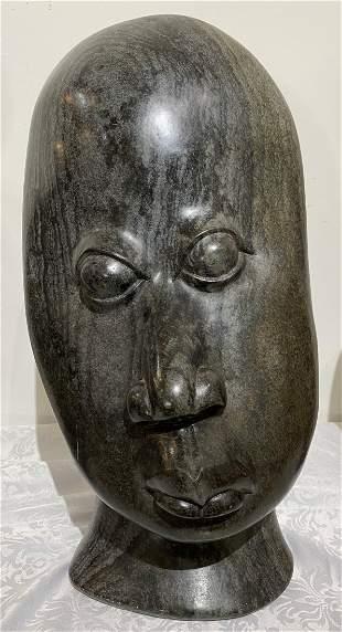 Stone face sculpt by Bernard Matmera (Zimbabwe)