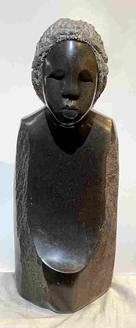 Stone figural sculpture by Agnes Nyanhongo