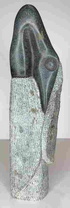Stone stork sculpture by M. Jamba