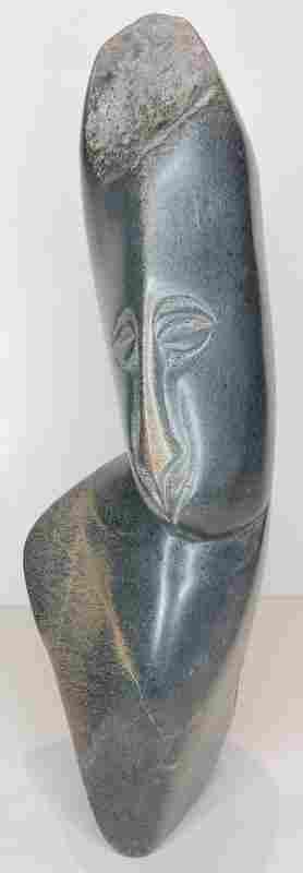 Grey stone sculpture Josi Nhete, Zimbabwe