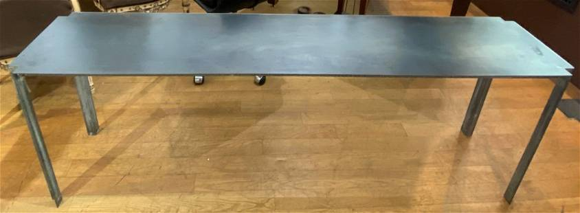 Modern metal behind-the-sofa table