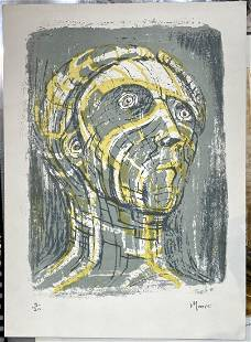 Litho by Henry Moore, 'Tete de Promthee' 1952