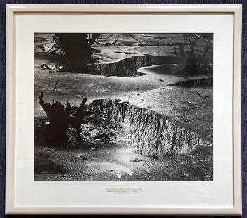 Framed photo by Lucien Clergue, Etang, dated 1969
