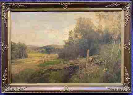 19thc landscape painting by John Clayton Adams