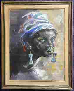 Portrait of a woman by George Reeder, dated 1969