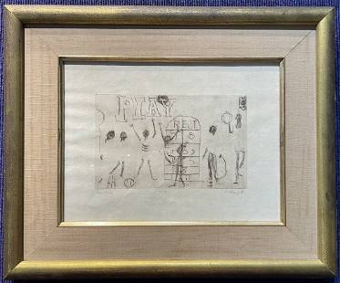 Etching by Alvin Hollingsworth, Play