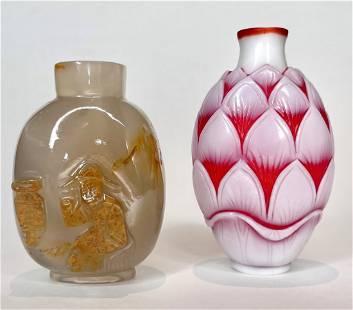 Two Chinese snuff bottles, Yongzheng mark