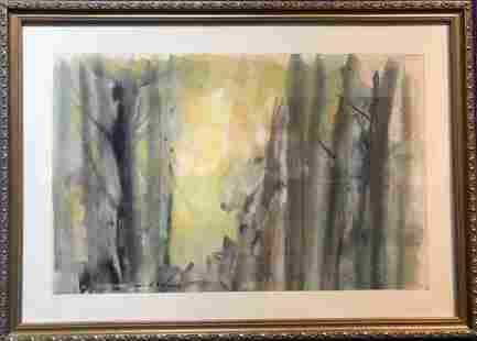 One watercolor of abstract colors, Beauford Delaney