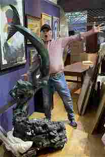 Large bronze by Jerry Joslin, Glory to the Deep