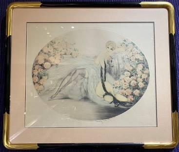 Original Louis Icart etching, La Belle Rose