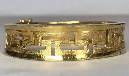 24k Chinese gold bracelet, 25.9 dwts
