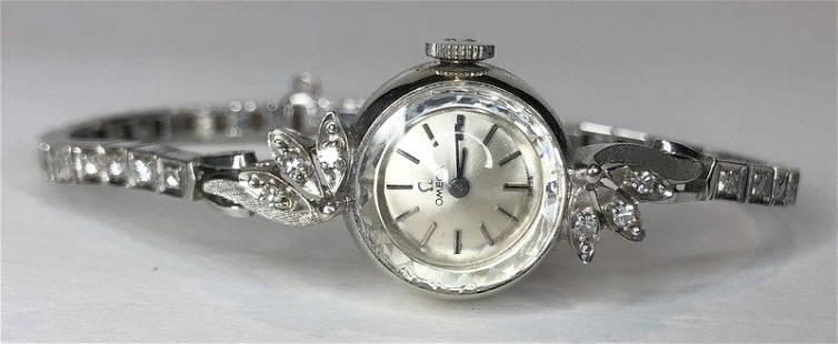 14k Omega ladies diamond watch, 11.75 dwts