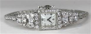 Hamilton 14k diamond ladies watch, 11.95 dwts