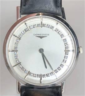 14k gold Longines mans wristwatch, 17.8 dwts