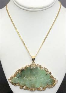 14k and jade butterfly necklace, Hong Kong, 23.4 dwts