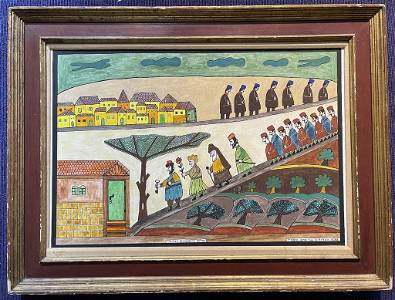 Painting by Shalom Moskovitz,20th century