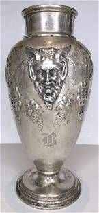 American sterling vase with Satyr c.1920, 18.35 ozt