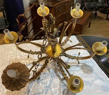French gilt bronze chandelier,c1900