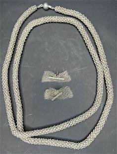 Appenzeller necklace & earrings (silver), 138.9 dwts