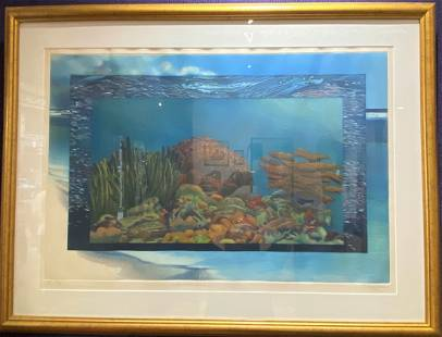 Large print of the ocean by Maria Henle