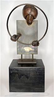 Bronze sculp by Juan Nickford, Act of Magic, c1950